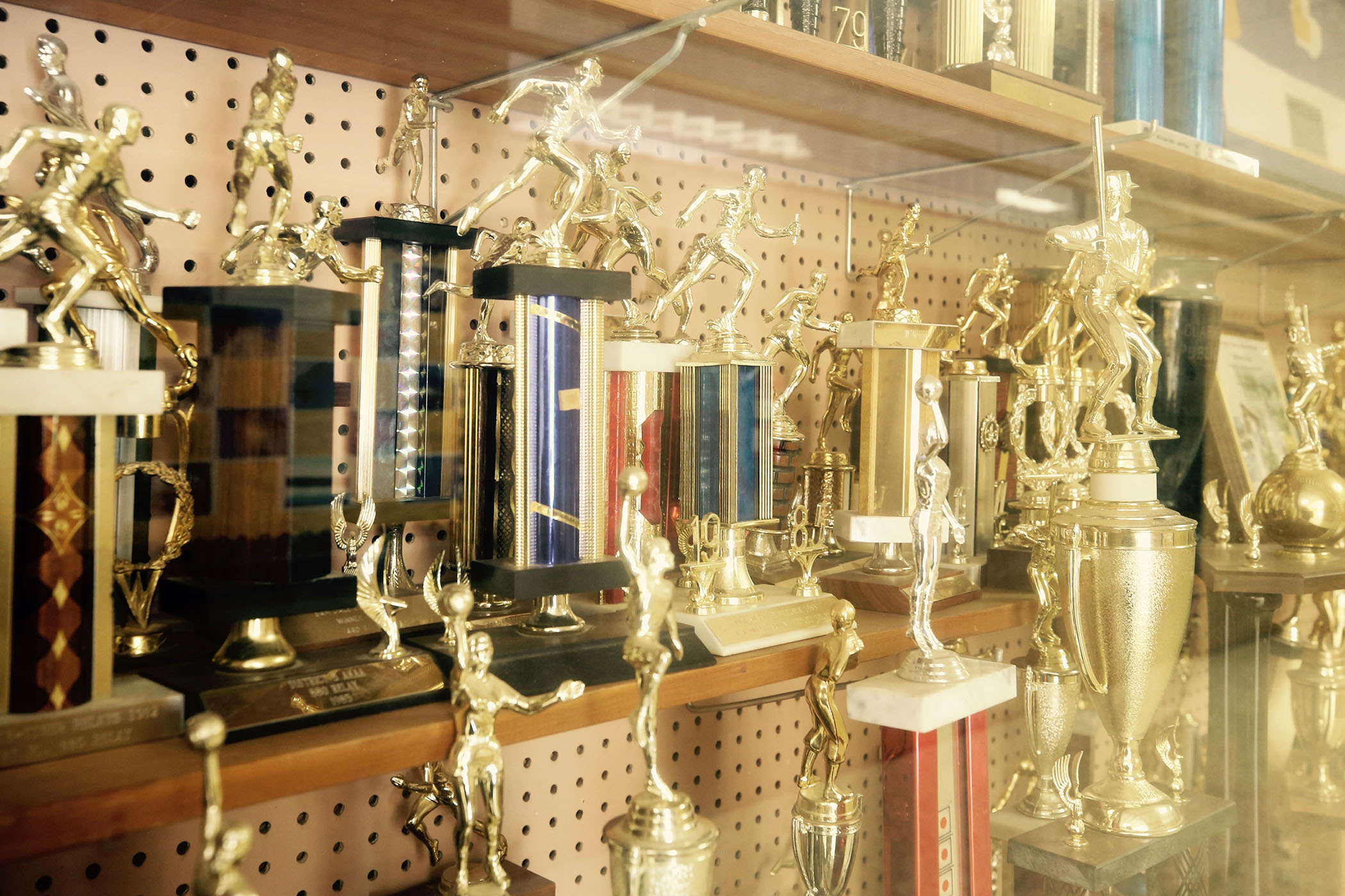 Quitman High School Panther trophy case