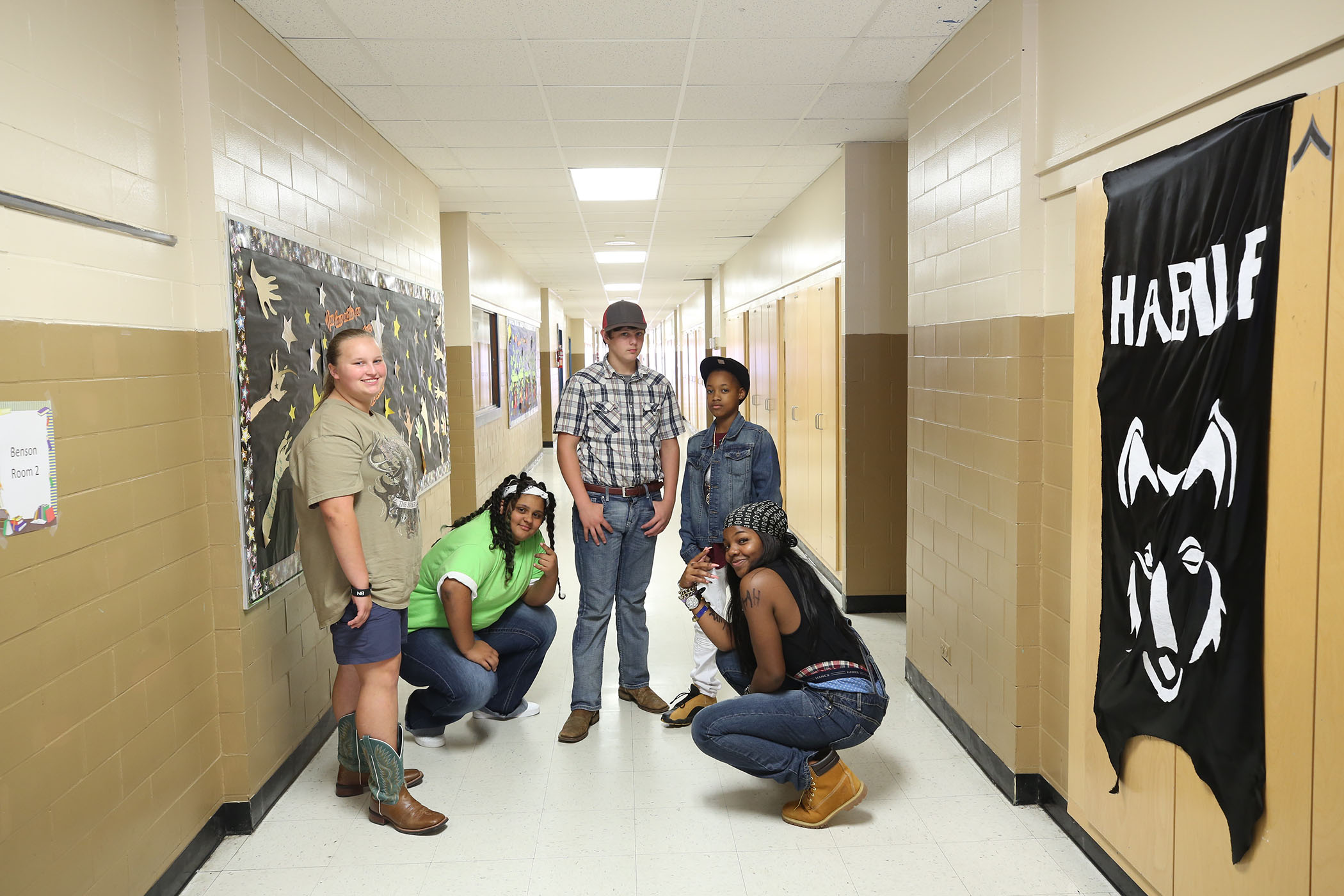 QJH students dress up as hip hop and country music starts for Panther Homecoming.