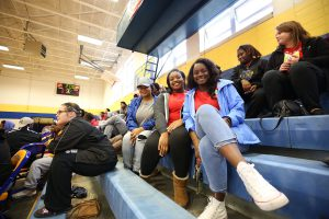 Students pose for the camera during Celebration Day at Quitman High School.
