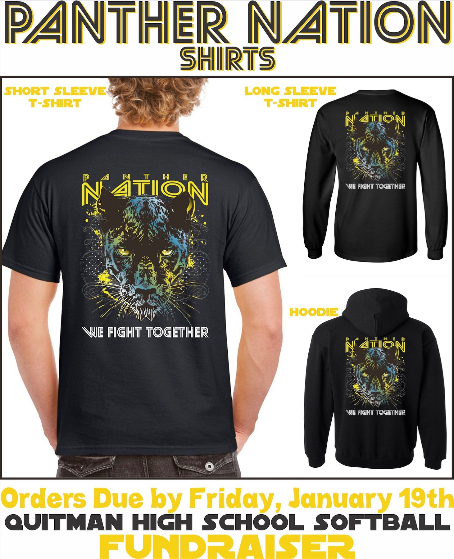 Photo of shirt being sold as a fundraiser for Panther Softball.