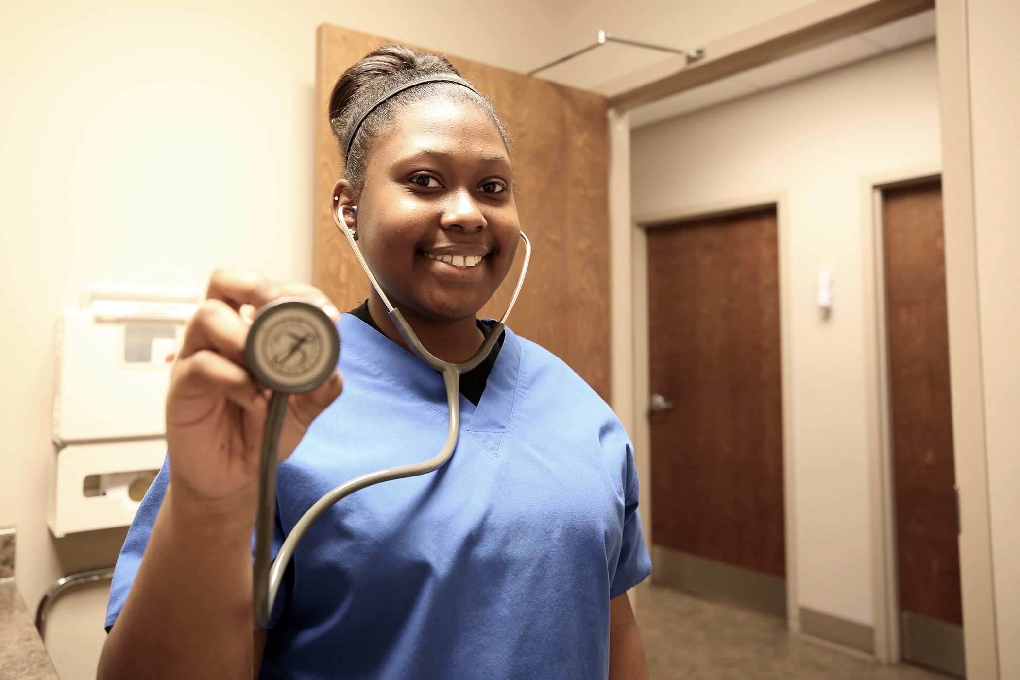 Francesca has clinical duties at a local health facility through the Clarke County Career Tech Center.