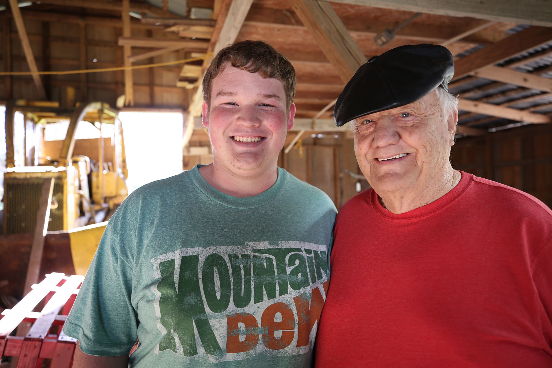 Scotty poses with his papaw.