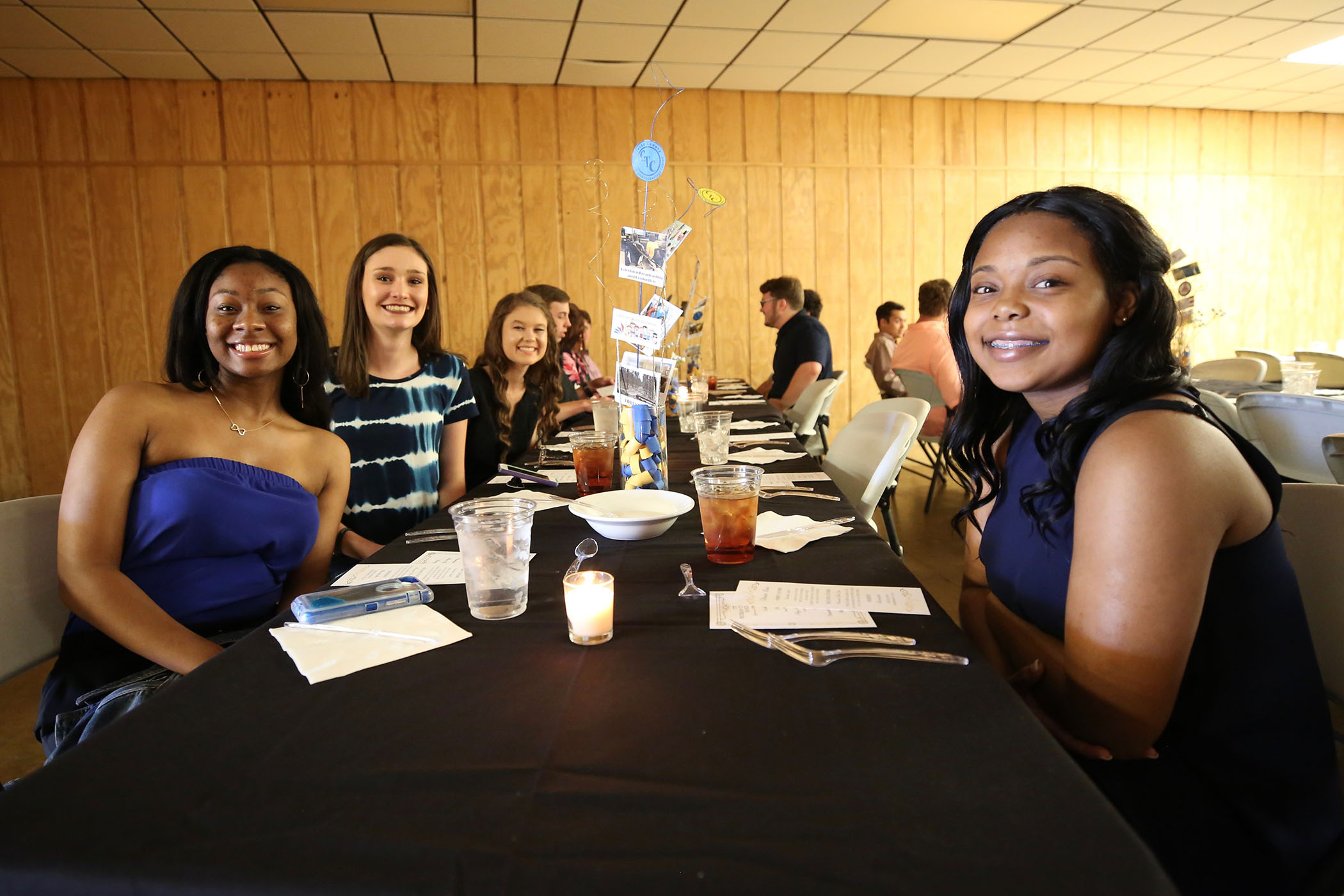 Culinary Arts II students enjoy a meal together.