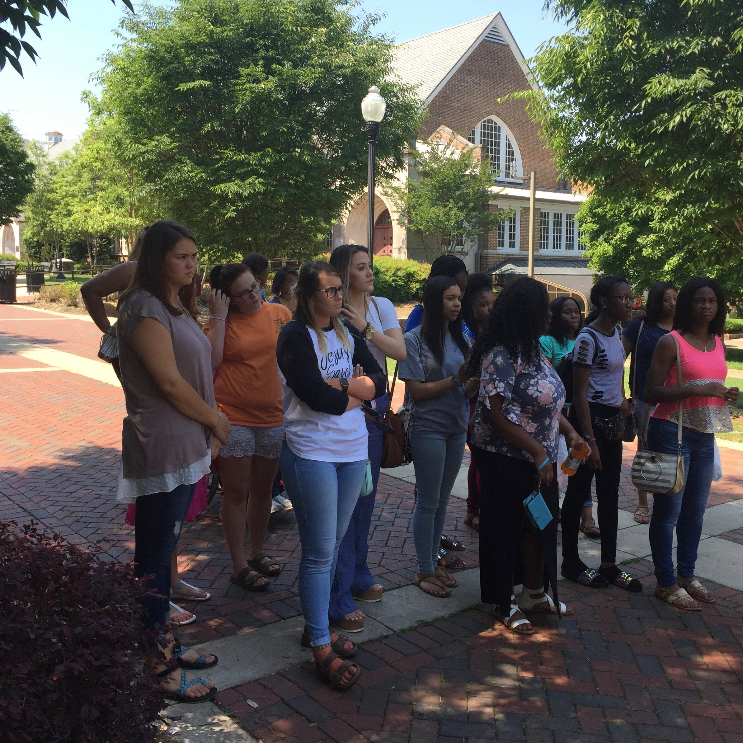 Career Tech students tour the campus of Mississippi State University.
