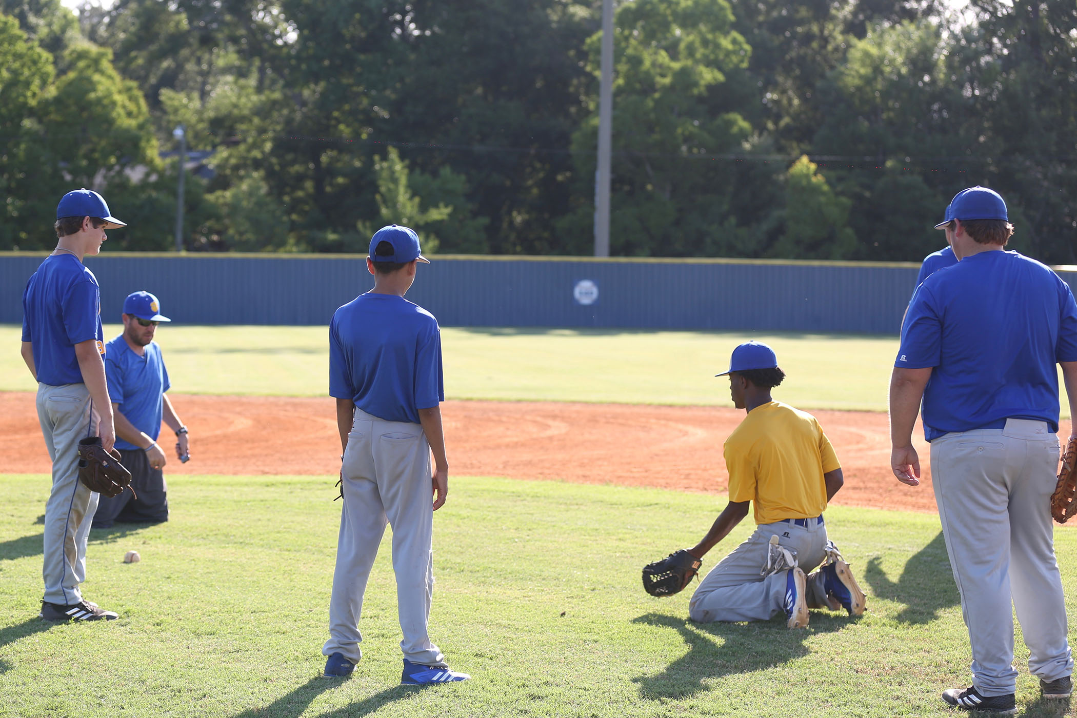 Panther baseball's first practice with their new coach.