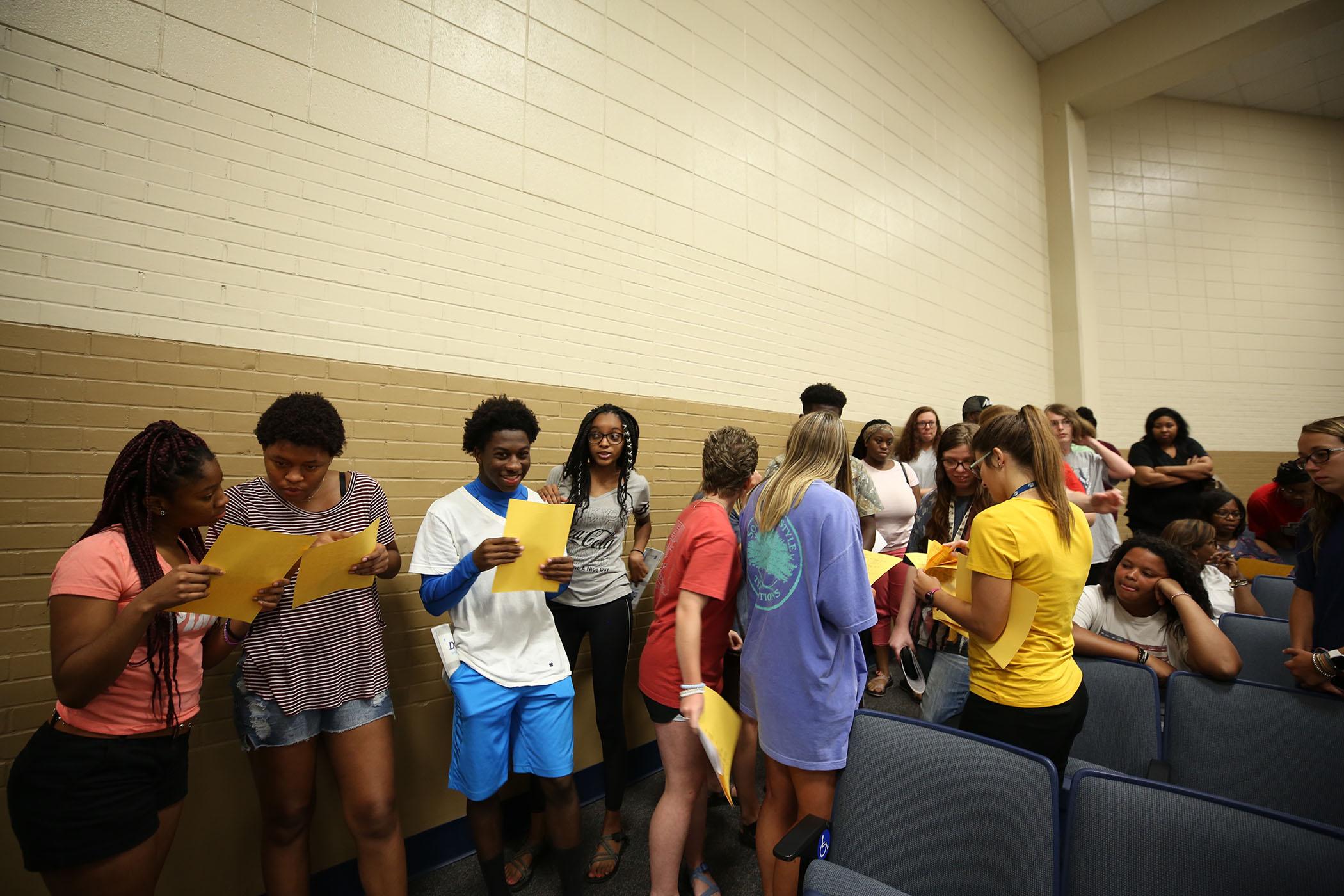 QHS seniors gather for orientation.