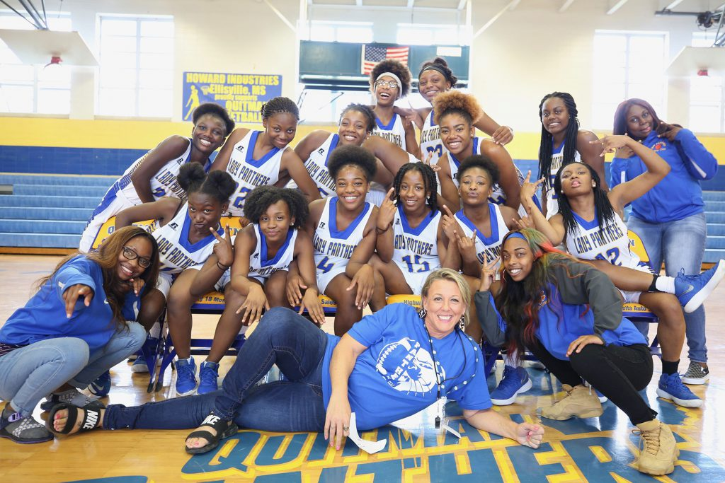 QHS Lady Panthers pose for a photo.