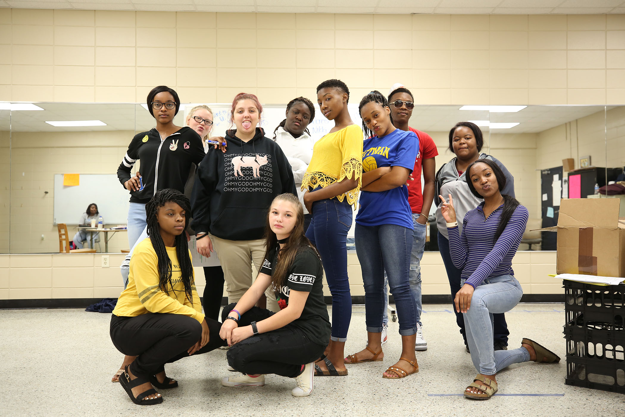 Mrs. Hines' theatre students pose for a photo.