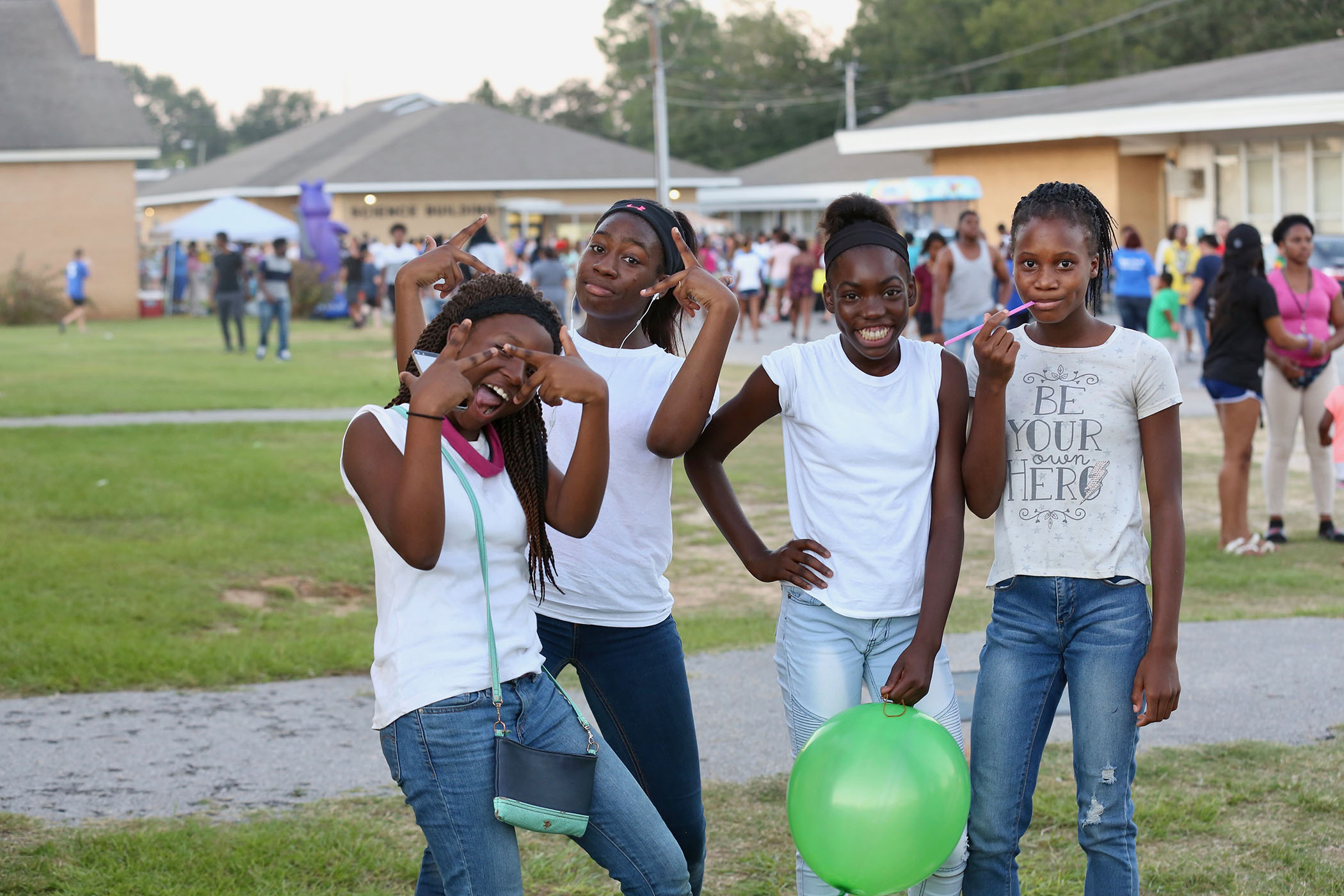 QSD students enjoy the 2018 Panther Block Party.