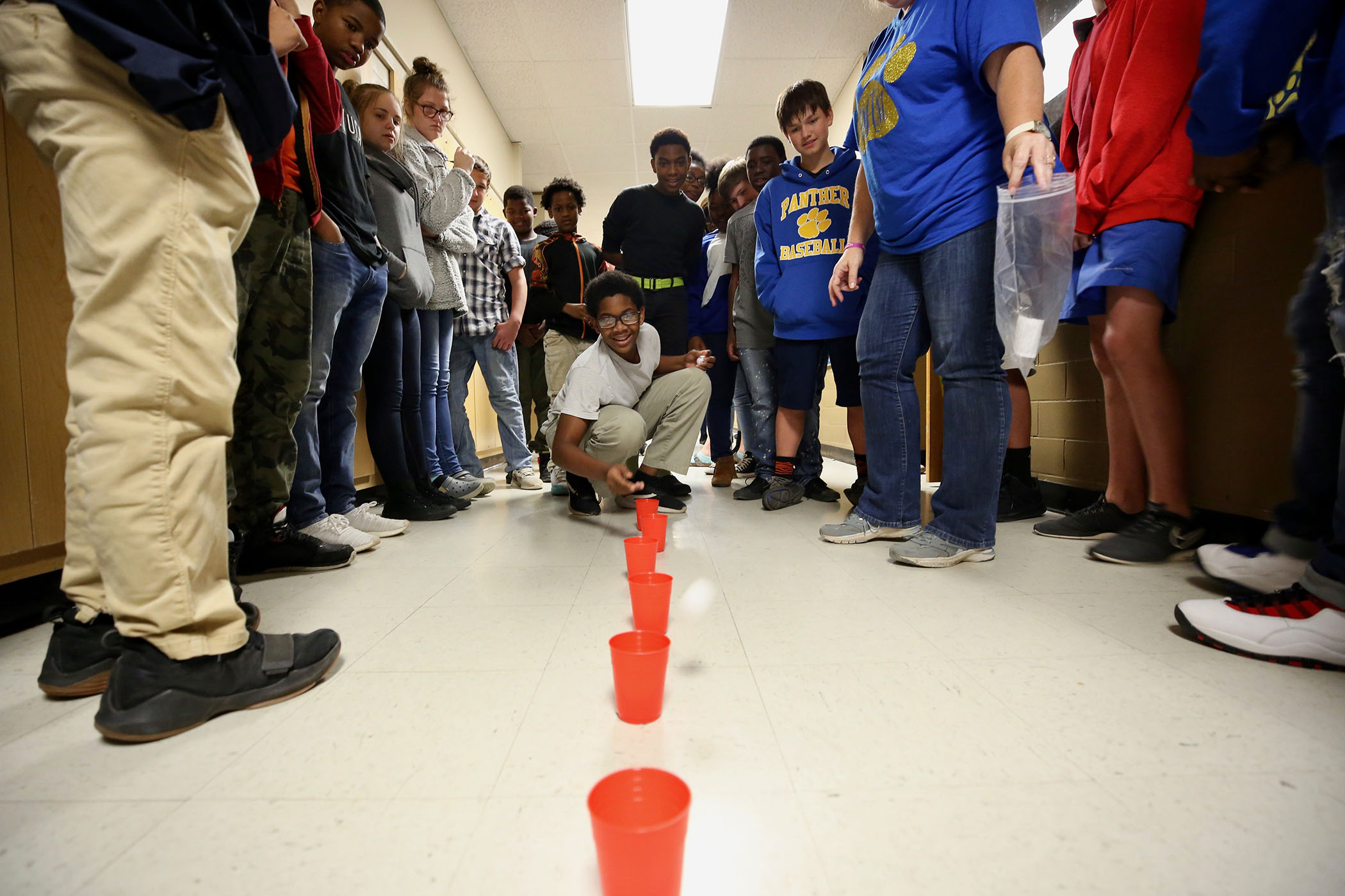 QJH student plays a game to illustrate Begin with the end in mind.