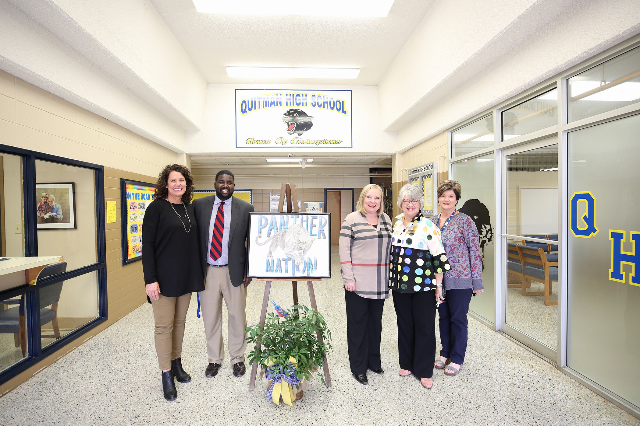 Mississippi's Teacher of the Year poses for a photo at QHS.