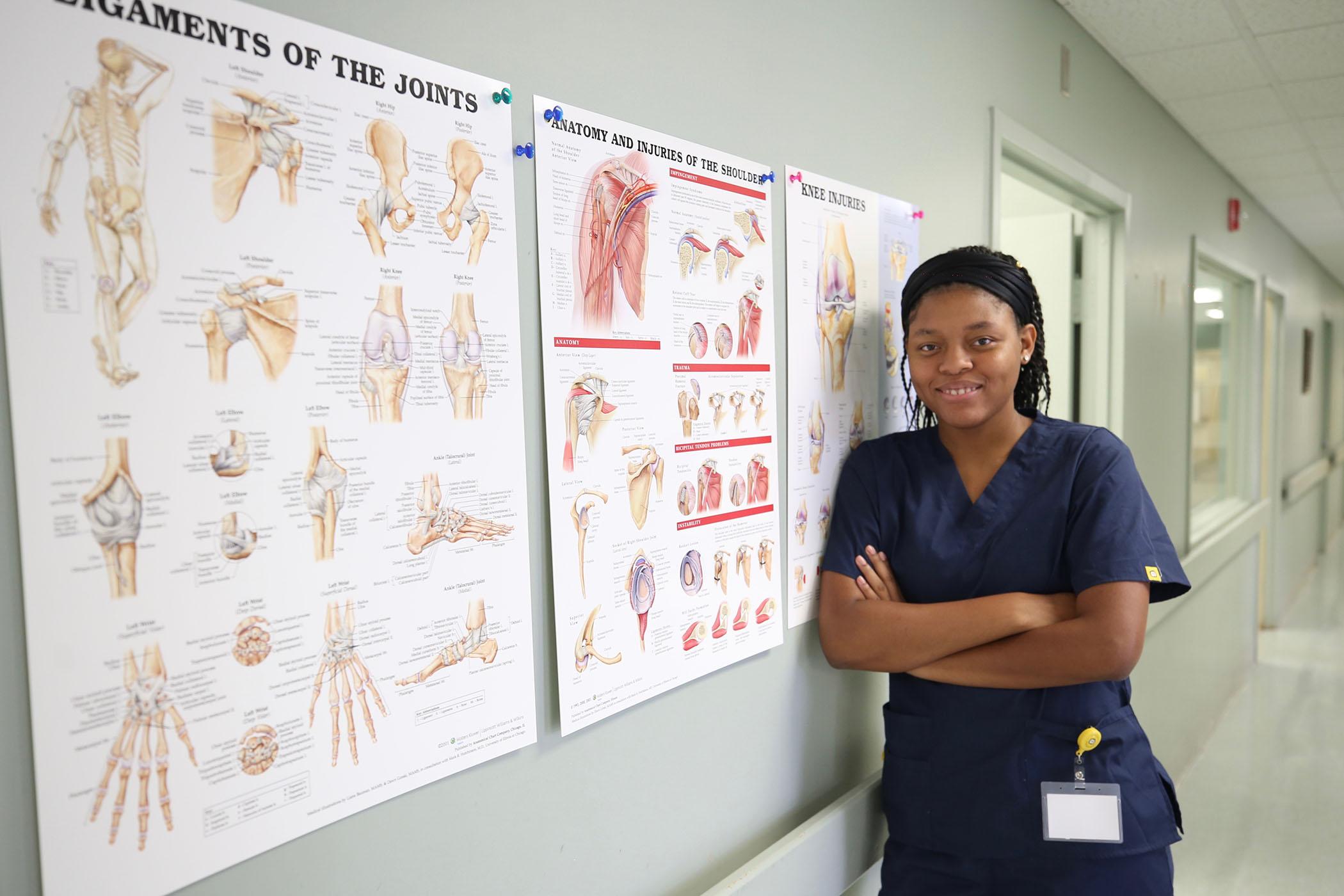 Jaureka attends clinicals at a local hospital.