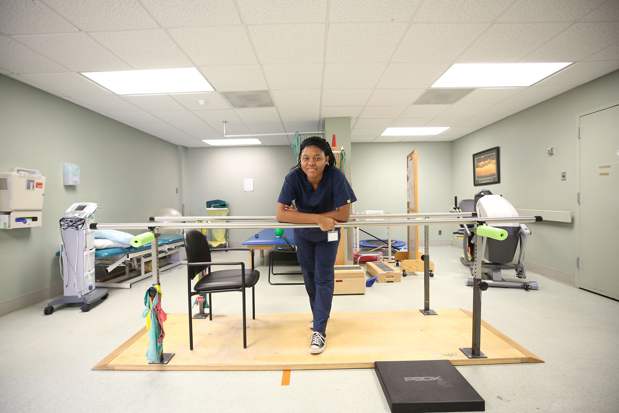 Jaureka performs her clinicals at a local hospital.