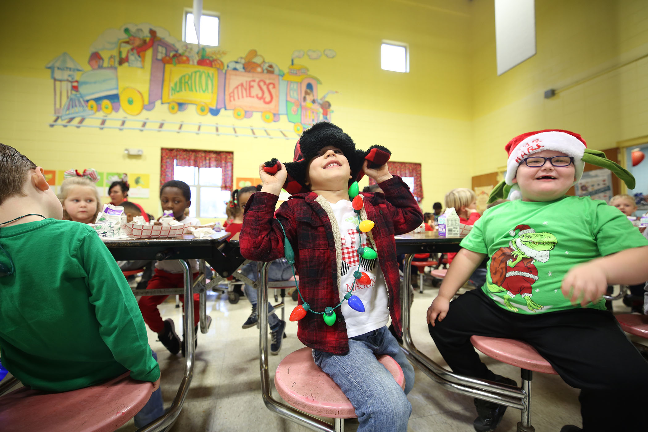 QLE student enjoys dressing up for the holidays.