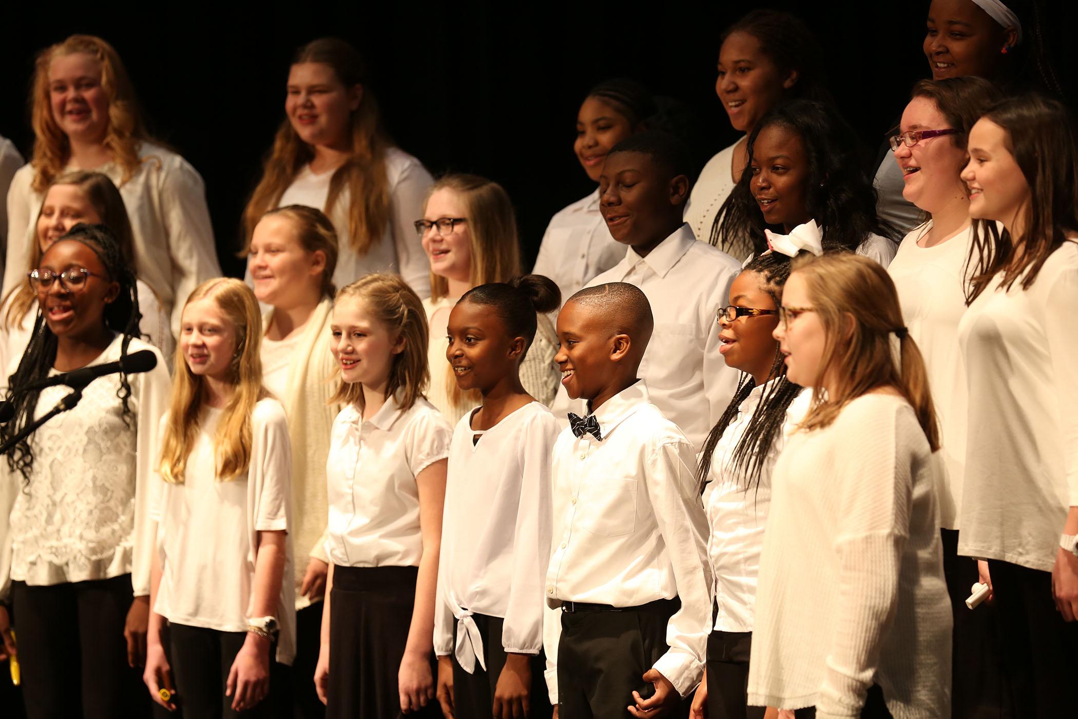 QJH Chorus performs in the QHS Auditorium.