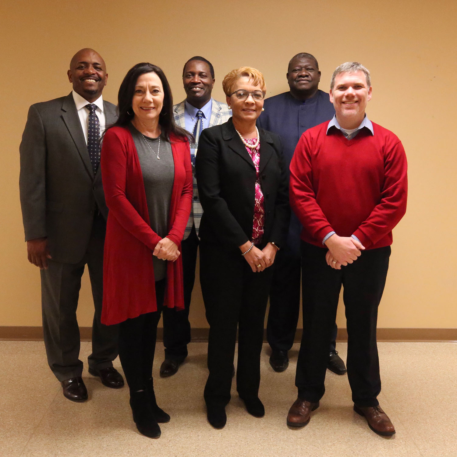 Quitman School District Board of Trustees pose for a photo.