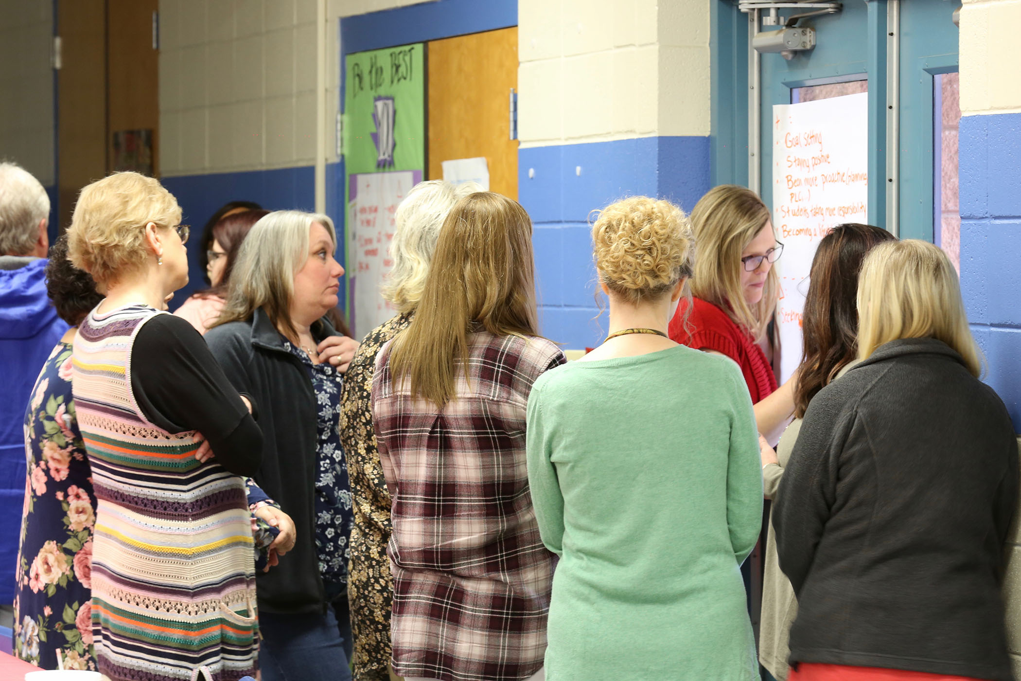 Teachers attend a Leader in Me workshop.