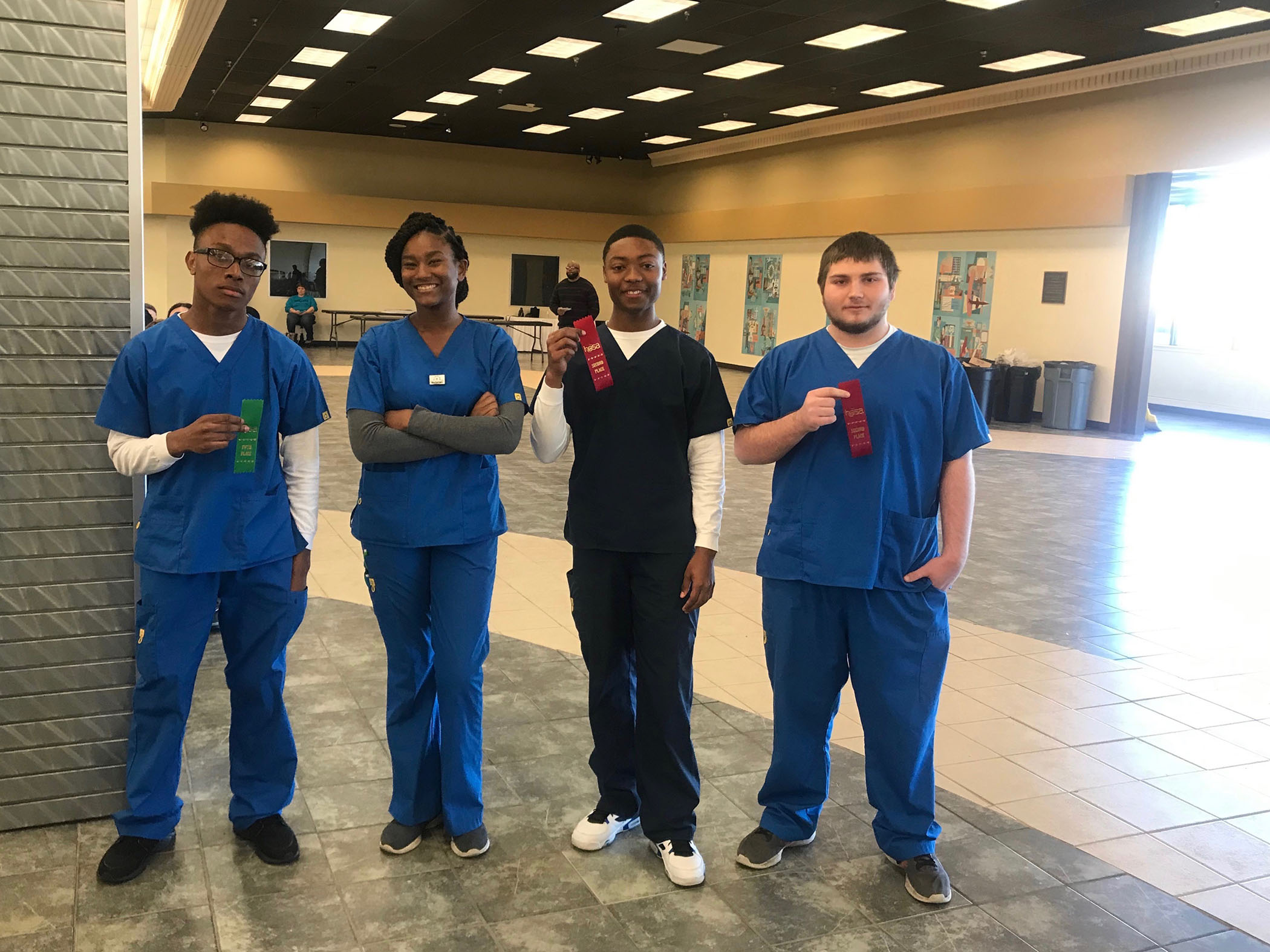 HOSA students win competitions and advance to state.