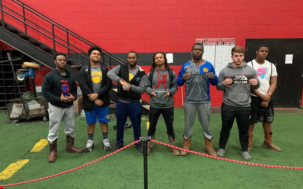 Panther Powerlifters pose for a photo.