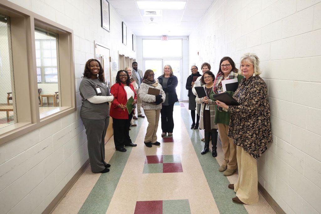 Quitman School District administrators tour the schools.