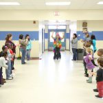 Mrs. Williams kindergarten class throws her a parade for being the QSD Teacher of the Year.