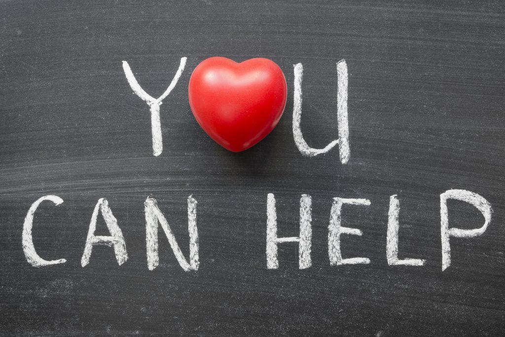 You can help phrase handwritten on school blackboard.