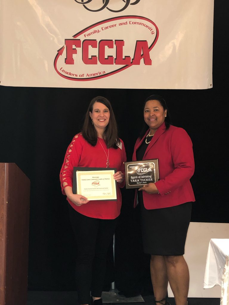Mrs. Tucker poses for a photo at the state FCCLA convention.
