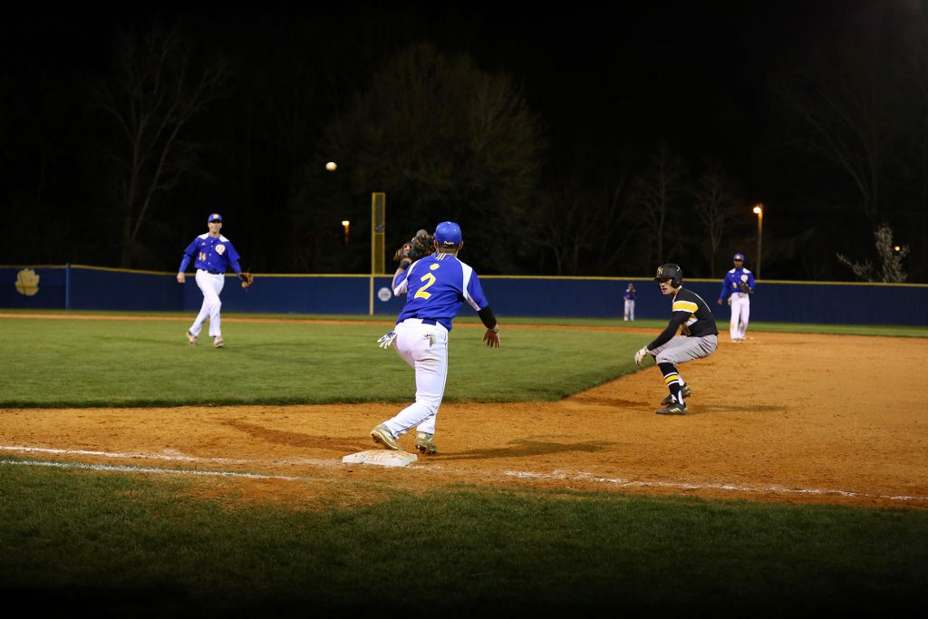 Panther Baseball plays in The Yard.