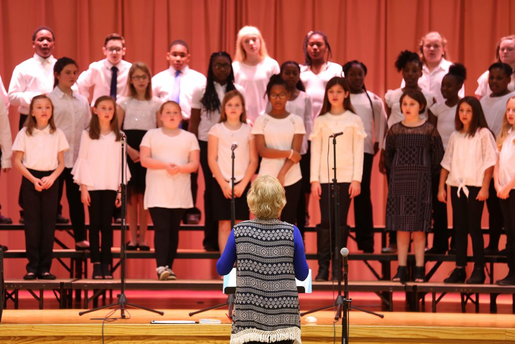 The Honor Choir of Quitman Upper Elementary performs a spring concert.