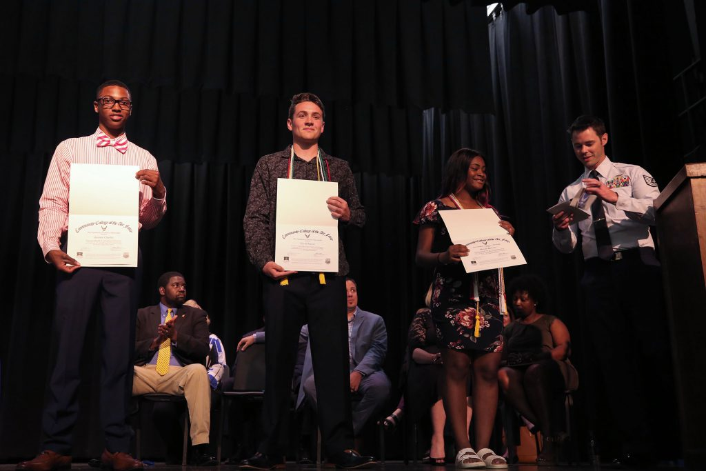QHS students received awards in the auditorium on May 2, 2019.