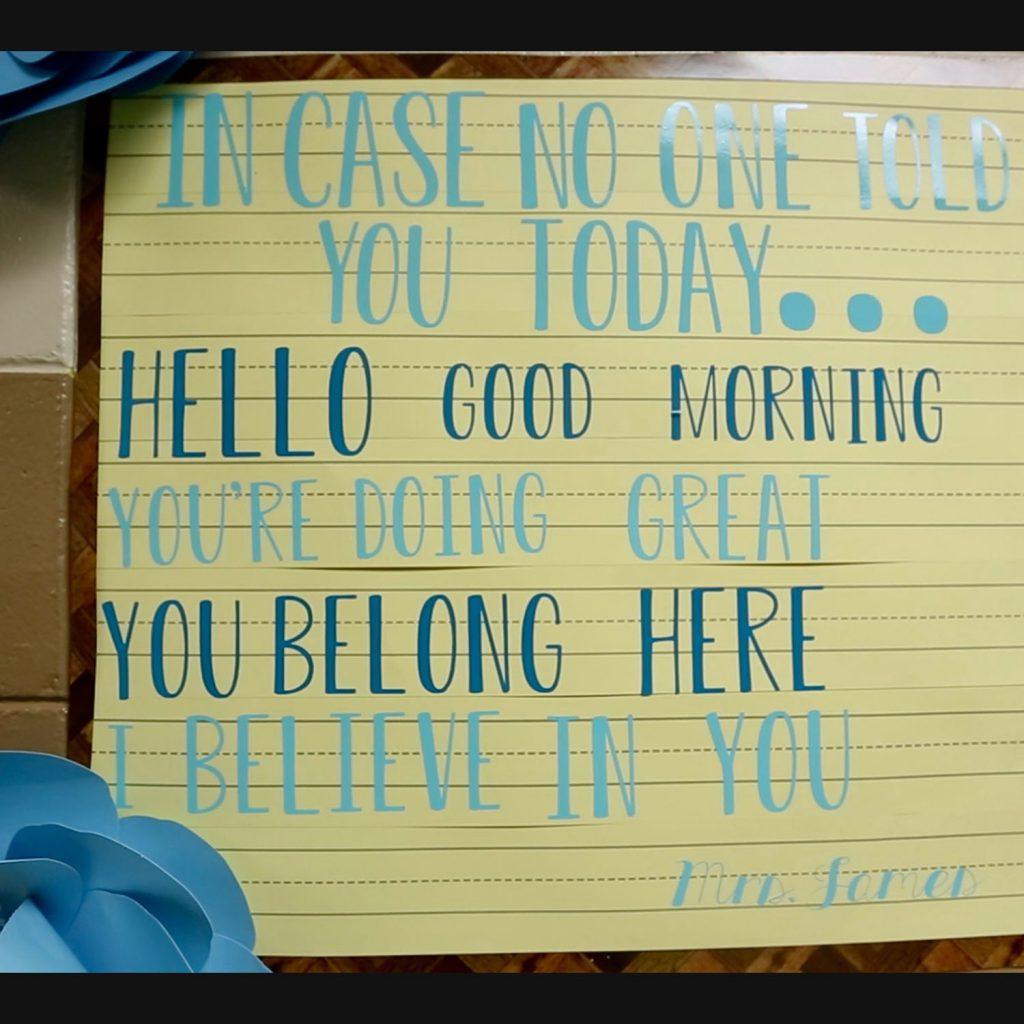 A photo of a teacher's bulletin board.