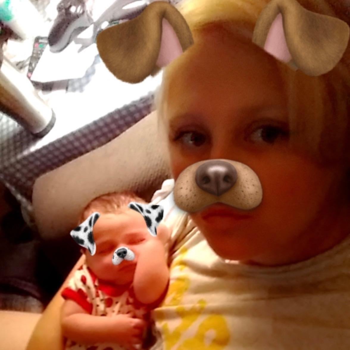Cassie holds her niece.