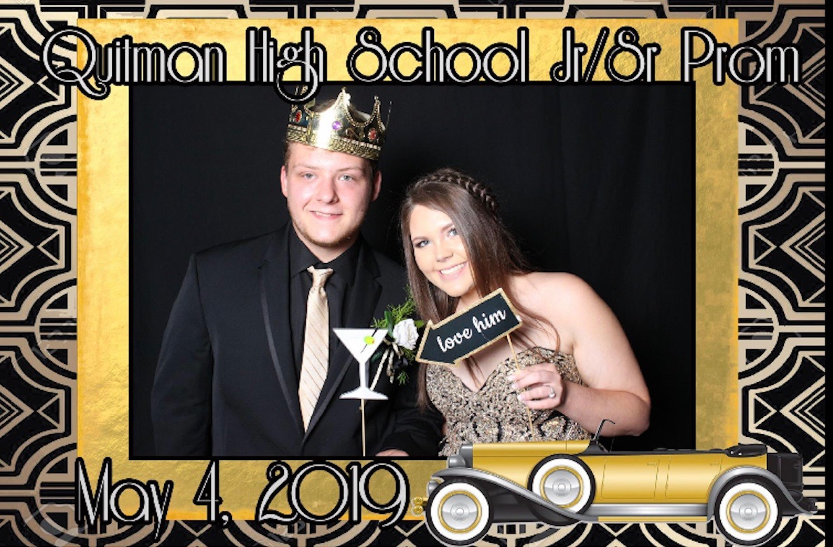 Skylar poses with her boyfriend at last year's prom.