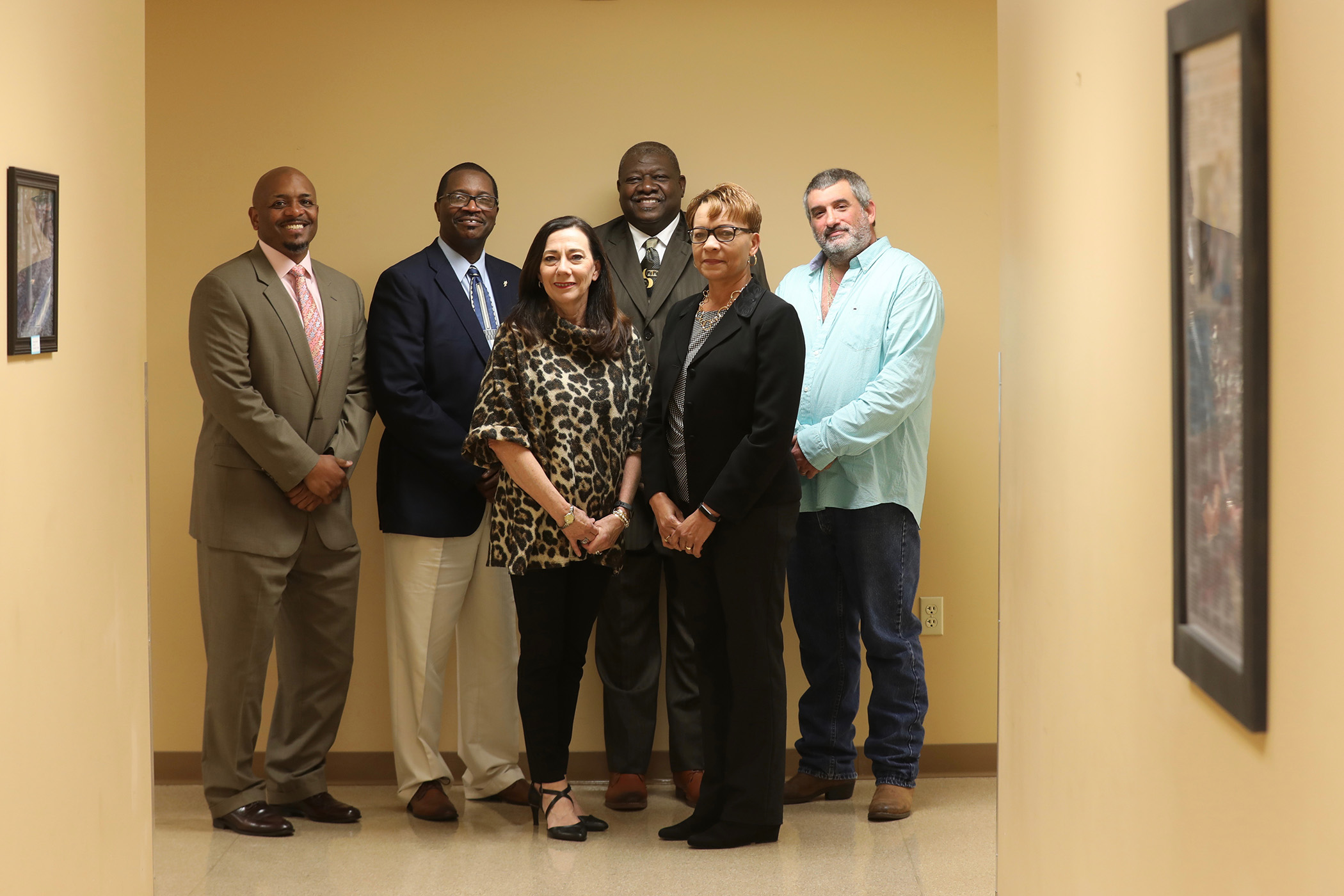 QSD school board members pose for a photo.