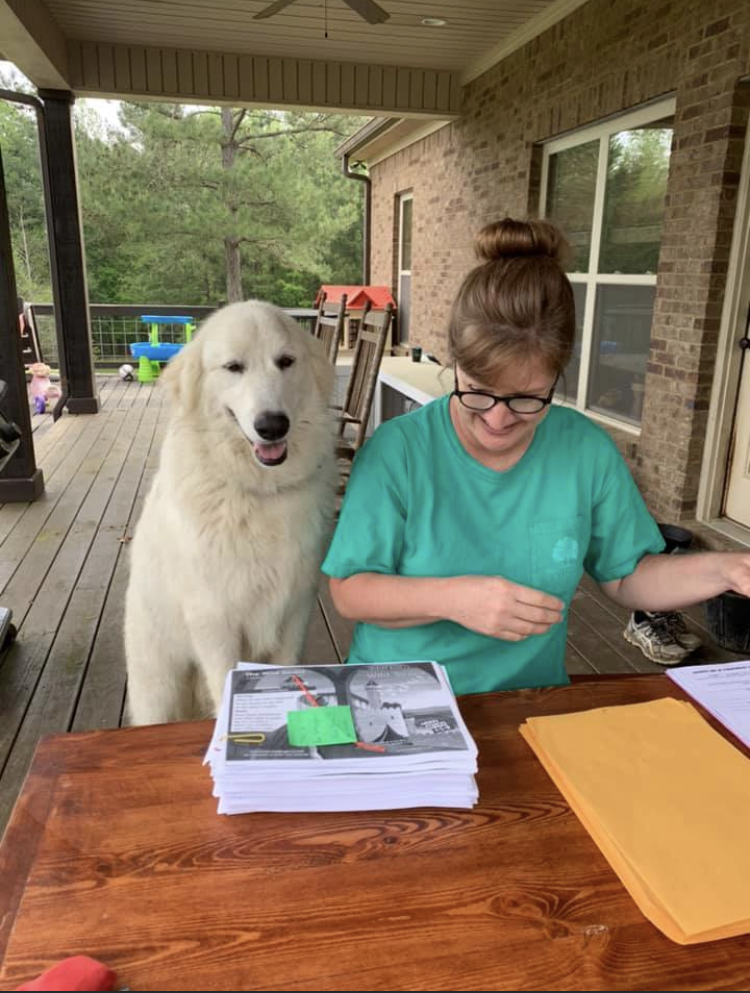 Mrs. Martin gets help with her work at home.
