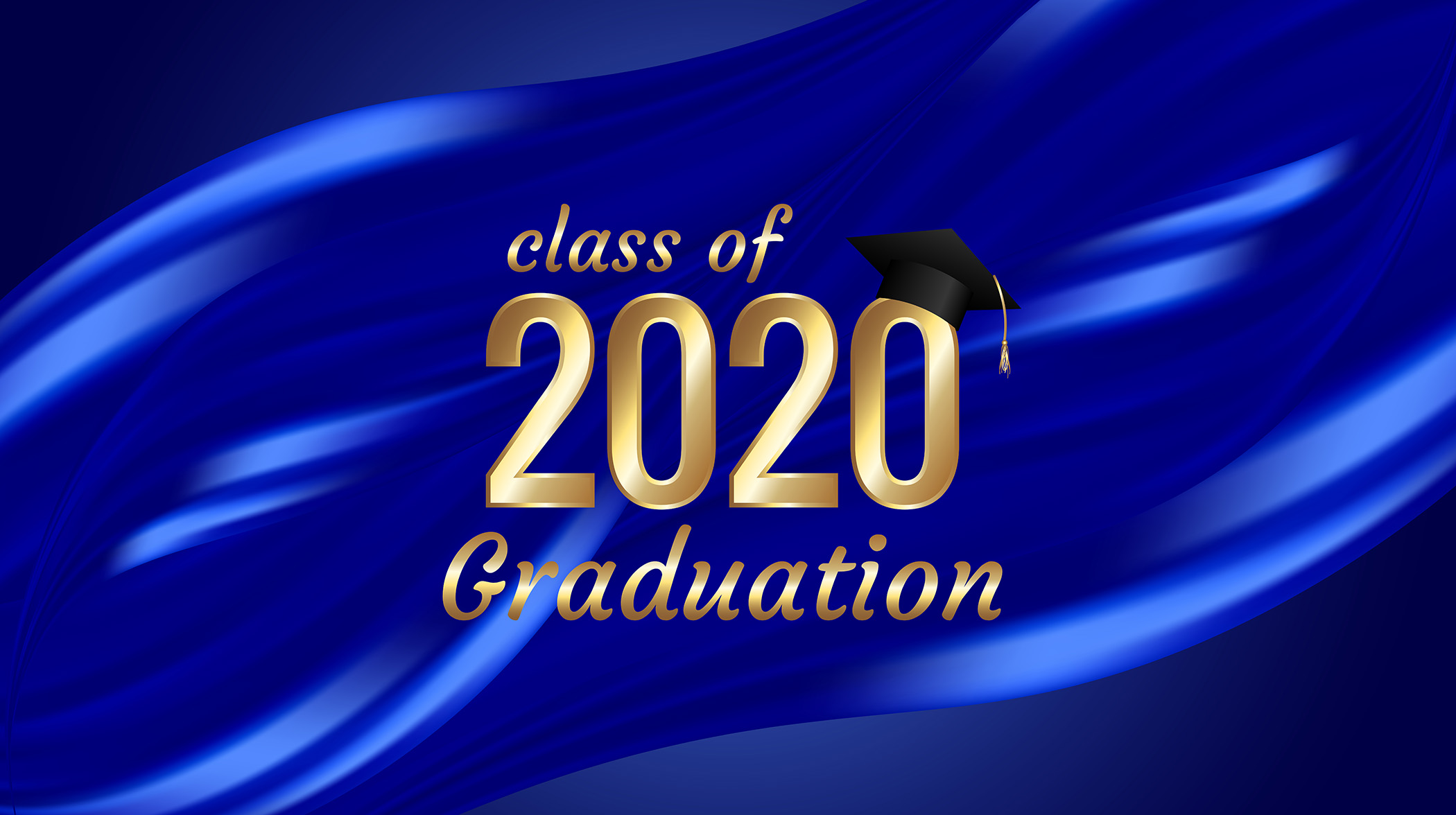This is a graphic for the Class of 2020 Graduation.