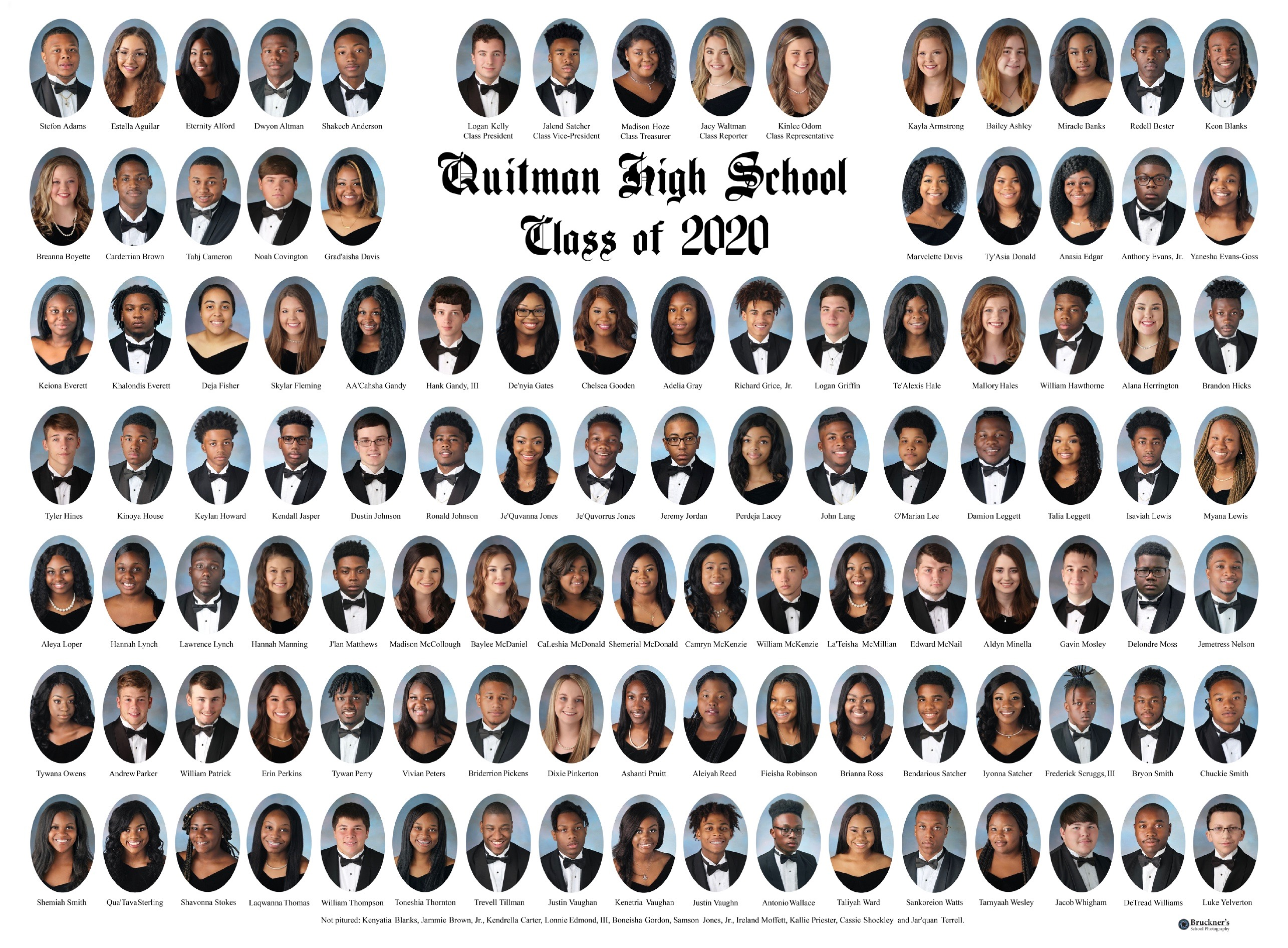 This is a composite of the QHS 2020 graduates.