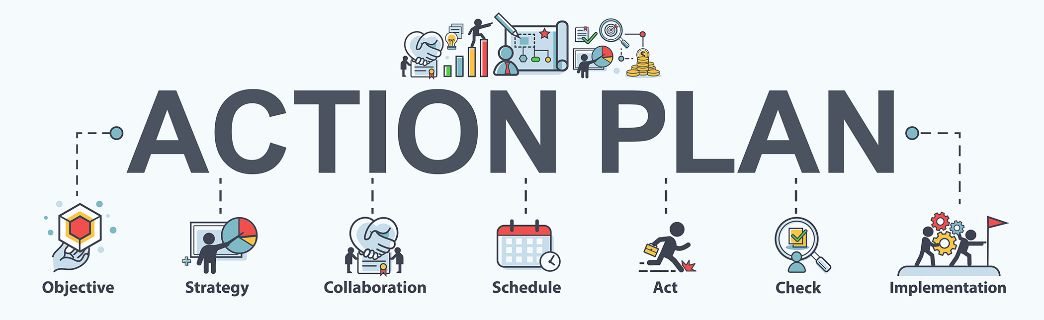 Action plan infographic