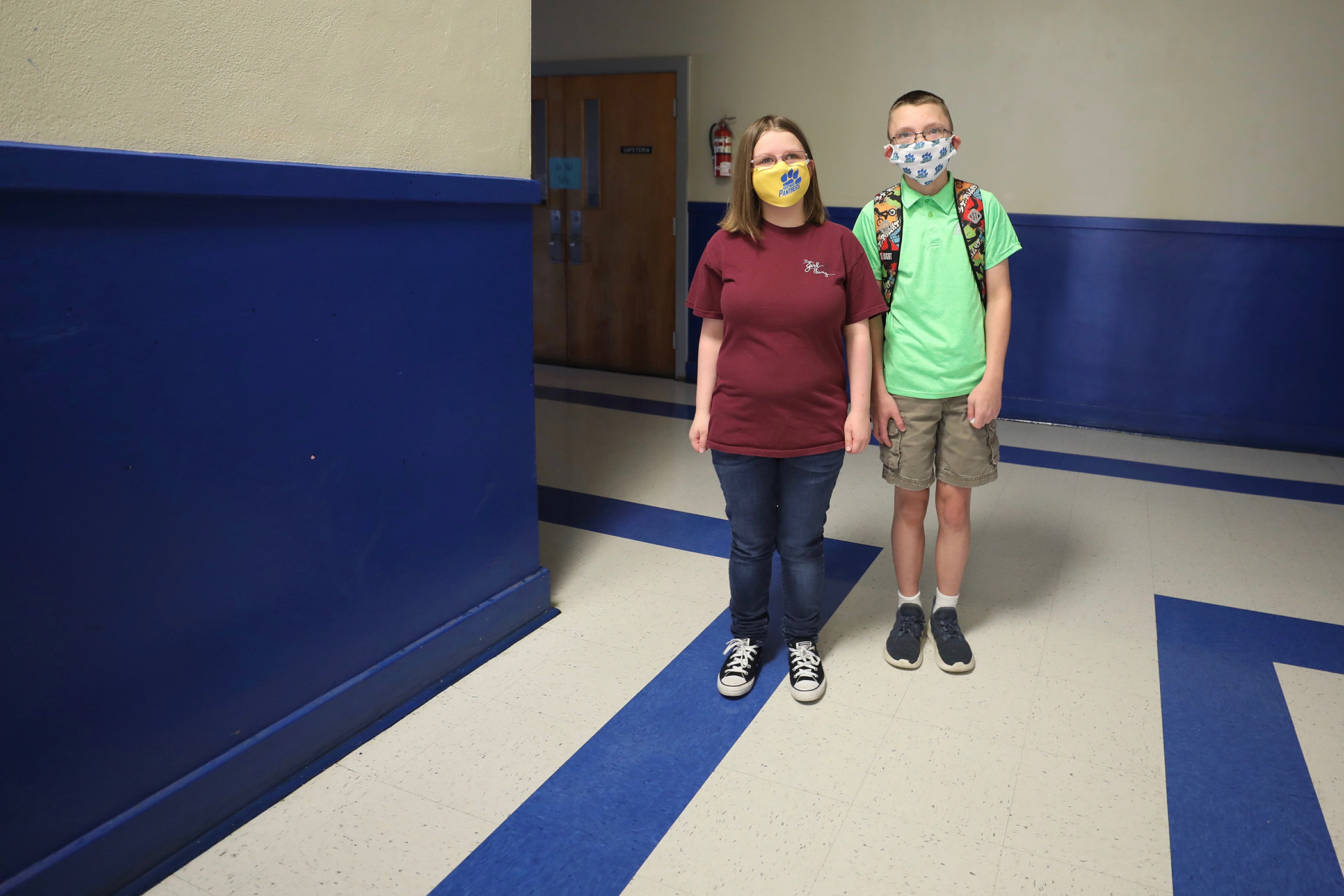 Two students attend summer school.