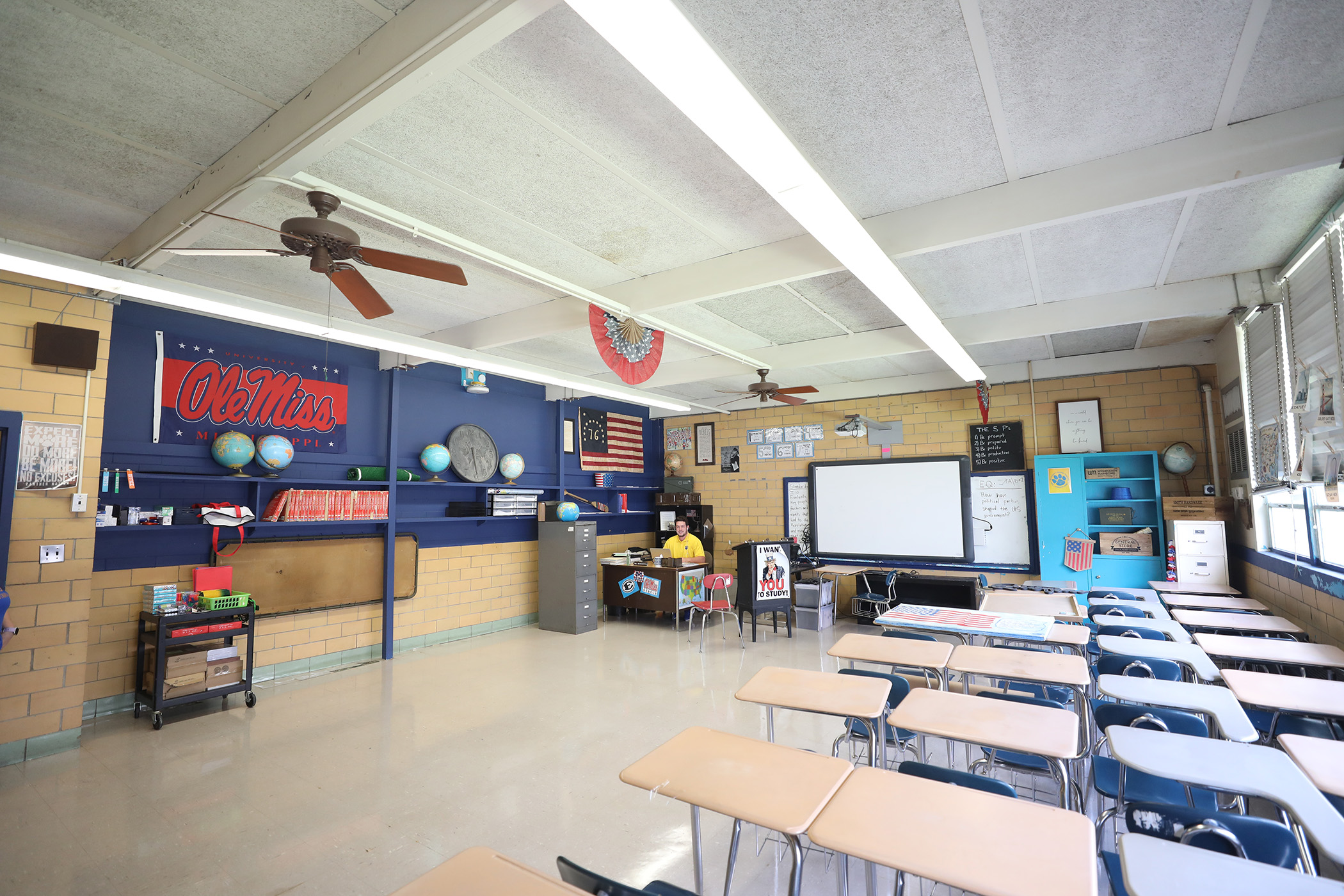 This is a photo of a classroom at QJH.