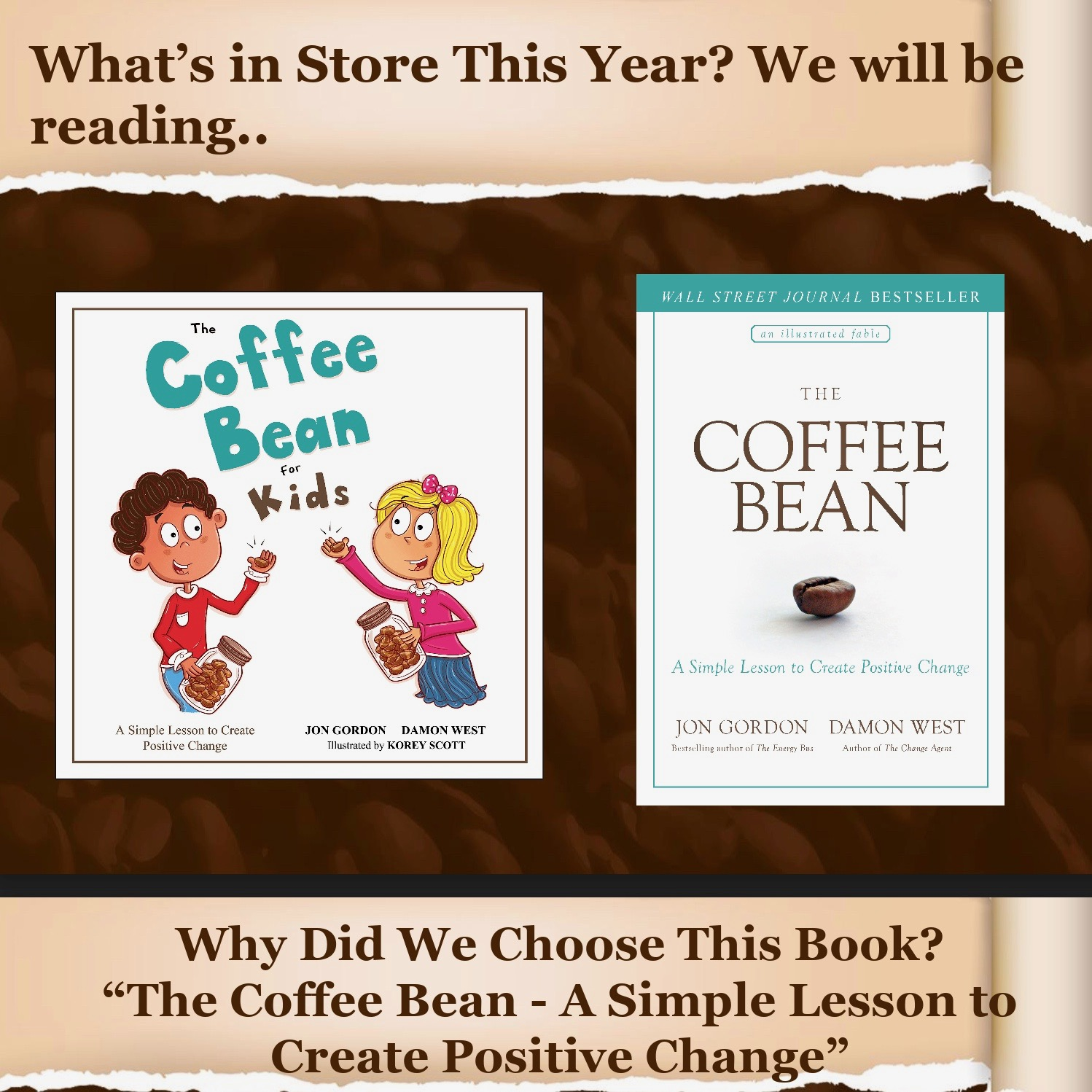 This is a graphic of The Coffee Bean book.