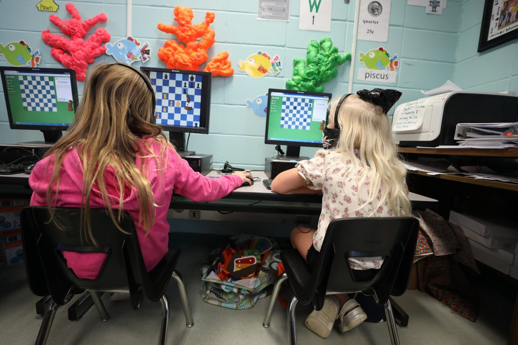 QLE S.W.A.T. students enjoy their new memberships to ChessKid.