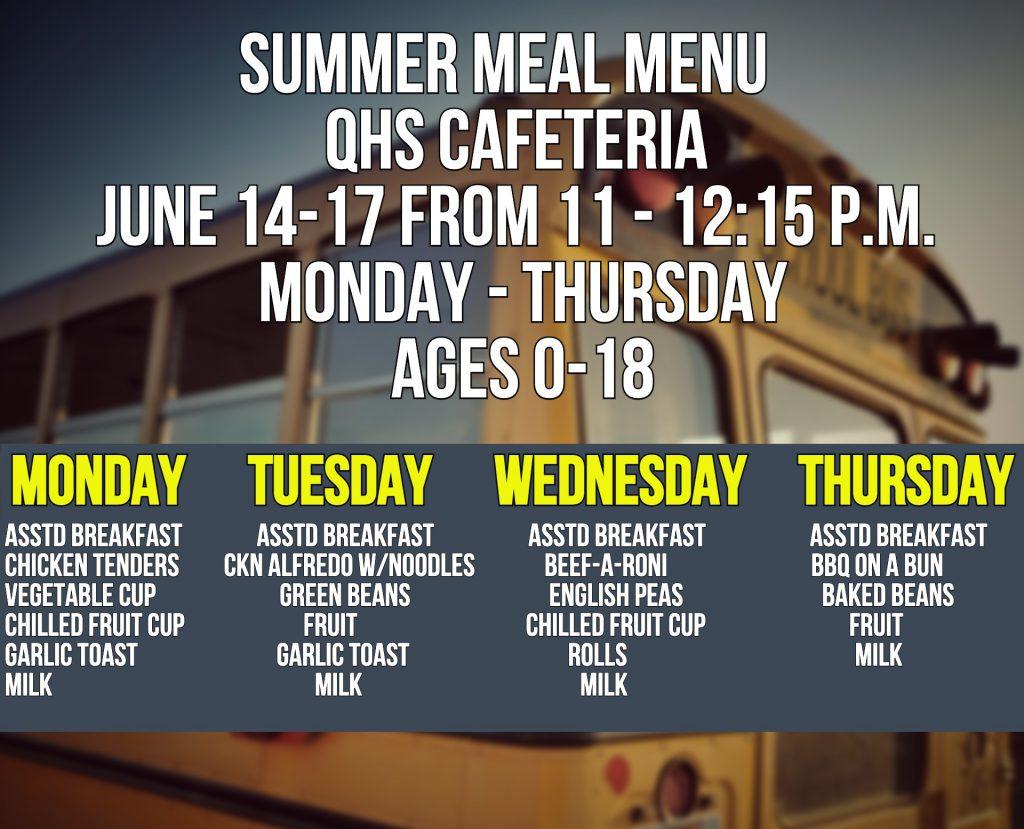 June 14 menu